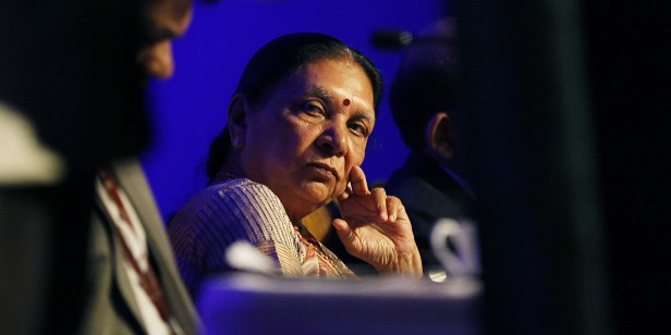 Gujarat Chief Minister Anandiben Patel At Vibrant Gujarat Curtain Raiser